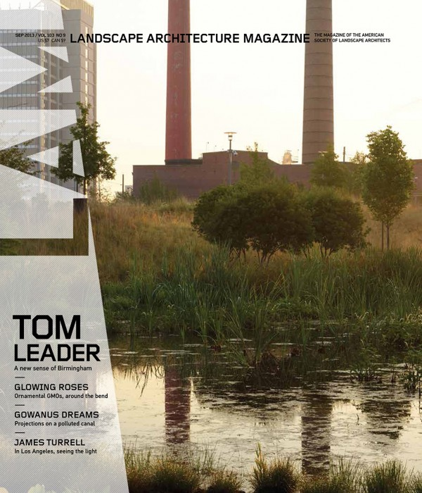 Landscape Architecture Magazine | Sept 2013